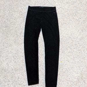 NWOT VSPINK Black Velvet leggings